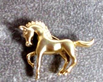 25% Off Vintage Horse Brooch Pin, Gold Plated Small Horse Brooch PIn