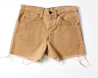 vintage corduroy shorts, Plain Pockets cord shorts, waist 28