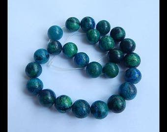 Chrysocolla Gemstone Loose Beads,Chrysocolla Necklace,1 Strand, 38.5cm In The Length,16x16mm,132g(h0150)