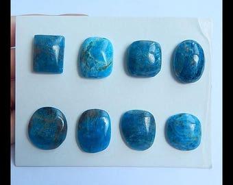 Sell 8 PCS Blue Apatite Crystal Gemstone Cabochon ,18x17x6mm,21x19x5mm,29.7g(h0664)