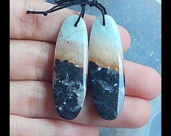 Amazonite Earring Bead,39x13x5mm,8.9g(E1038)