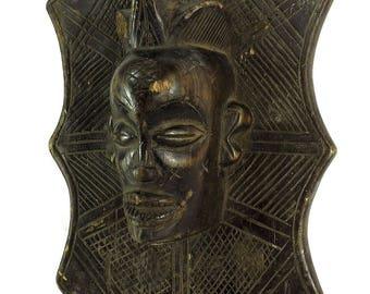 Chokwe Mask Mwana Pwo Panel Congo African Art 101271