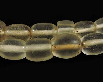 Bohemian Clear Oval Trade Beads Africa 28 Inch 101410