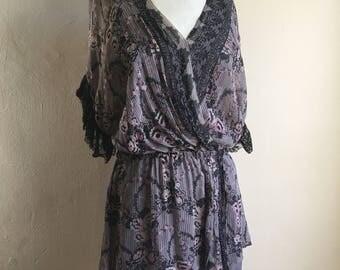EL Vintage Wedding Vintage 20s Inspired Bergdorf Goodman Silk Slip Dress 8 M
