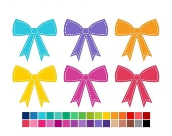 40% OFF SALE Bows Clipart, Bows Clip Art, Cute Clipart, Gift Bow Clipart, Simple Clipart, Instant Download, Commercial Use Graphics