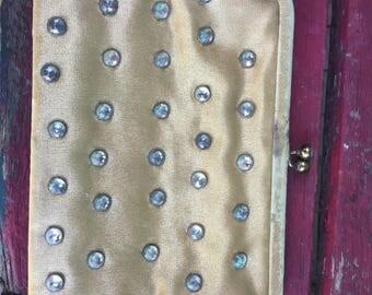 Vintage Koret Gold and Rhinestone Clutch