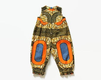 Girls romper, baby onesie, African Wax Cotton baby playsuit, ready to ship, baby romper, 18-24 months