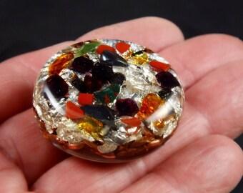 Positive Orgone with Tibetan Petalite & Phenacite Crystals, Root Stones (see list) Elite Shungite, Tourmaline, Selenite, Rhodizite (d12)