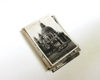 25 Vintage Italy Black and White Unused Postcards Blank - Unique Travel Wedding Guest Book, Reception Decor, Travel Journal Supplies