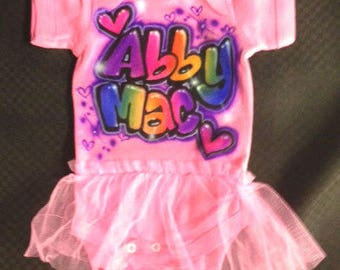 Birthday Tutu Onesie Airbrushed *Discontinued*