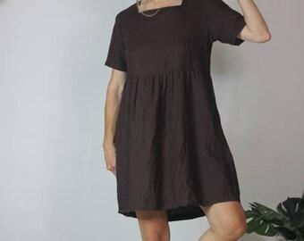 Linen Summer Babydoll Dress