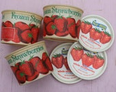 Vintage Waxed Dixie Cup Frozen Strawberry Container, Old Stock with Lid, ONE,  16 OZ