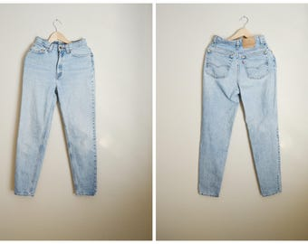 vintage 80s 90s Levi's 512 USA made High waisted tapered leg mom jeans -- womens 26x30