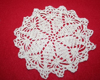 Vintage Hand Crocheted Doily- 5.5 inch