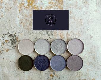 Eyeshadow Palette-Mineral Makeup-Makeup Palette-Indigo-Indigoes-Vegan Makeup-Natural Makeup-Eye Shadow Singles-Charlsie & Fain-Periwinkle