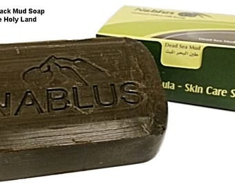 Hand Made Dead Sea Black Mud Soap 3.5oz./100gr. For All skin types