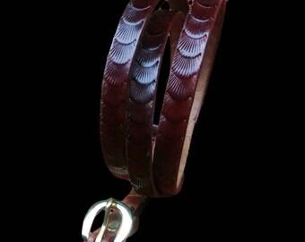 Women's, Men's dress belts, thin leather belt, black raspberry belt, scallop design belt, best selling belts