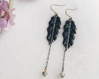 Earrings    Lucky Feather