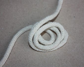3 mm NATURAL Cotton Rope = 5 Yards = 4.57 Meters of Elegant Cotton Braided Cord - Bulky Yarn - Super Bulky Yarn - Macrame Cotton Cord