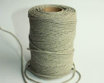 2 mm Elegant Linen String - Natural Color = 25 Yards = 22.86 Meters from spool