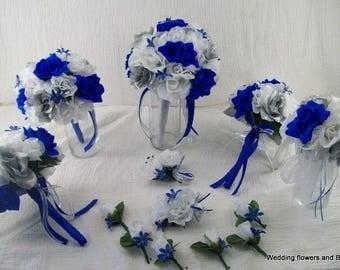 Royal blue bouquet | Etsy