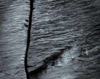 fissure, 8x10 fine art black & white photograph, nature