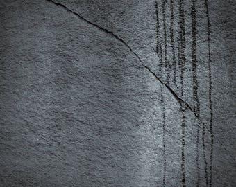 rock and rain, 8x10 fine art black & white photograph, nature
