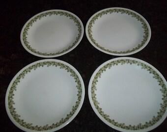 4 Lunch Plates Corelle, Spring Blossom AKA Crazy Daisy