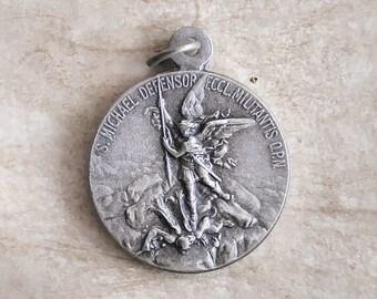 Saint Michael - San Miguel - Pendant - Medal - Medalla - Alpacca Silver