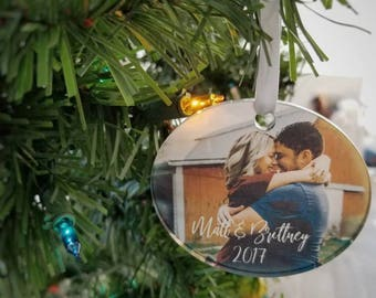 Custom picture ornament.  Personalized  ornament . Personalized Christmas ornament  .  Custom Valentine's Day photo Ornaments . Christmas .