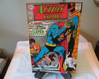 Vintage DC Action Comic Book Number 363, 1968, Comic Book Collector,