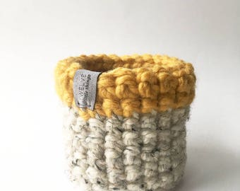 Mini Basket,Storage Basket,Brush Holder,Pen Holder,Home Decor,Bathroom Storage,Toy Storage,Desk Organization,Baskets,Storage,Knitted Basket