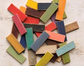 Color Chip Samples Distressed Finish Wood Paint Samples Set 6