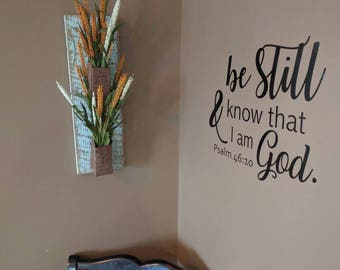 Psalm 46: 10 wall decal