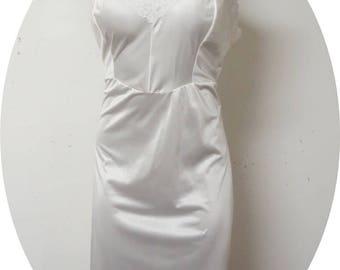 Vintage White Nylon Slip  Dixie Bell Size 46 #013
