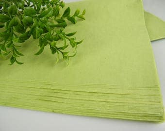 48 Green Tissue Paper Sheets | Solid Sheets | Leafy Green Crisp Green | Gift Wrap Tissue | Luxury Packaging | Green Wedding Decor