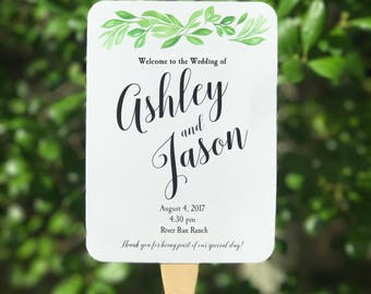 Wedding Fans Personalized Printable or Printed with FREE Shipping - English Countryside Collection