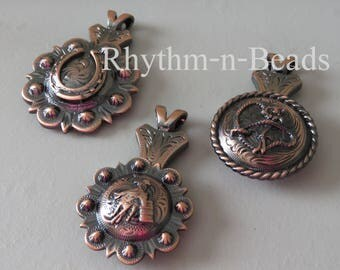 Concho Pendants for your rhythm beads necklace, Rhythm Beads, Horse Lovers,  Rhythm Beads necklace, Rhythm Beads necklace pendants