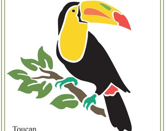 Toucan svg, tropical bird illustration, Tropical Animals SVG file, printable bird, vinyl, greeting cards, invitations, cutting,