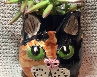 Cat planter custom made to look like your kitty