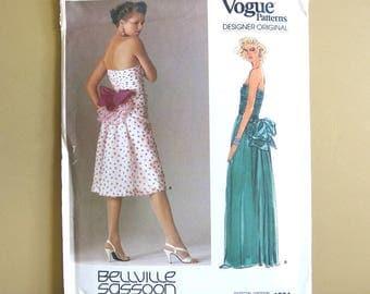 Vogue Pattern Designer Original Bellville Sassoon Formal Cassual Dress Size 10 Number 1554      241A