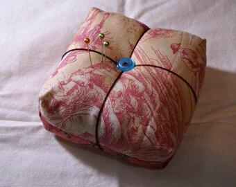 Pink Cowboy Chunky Pincushion Handmade