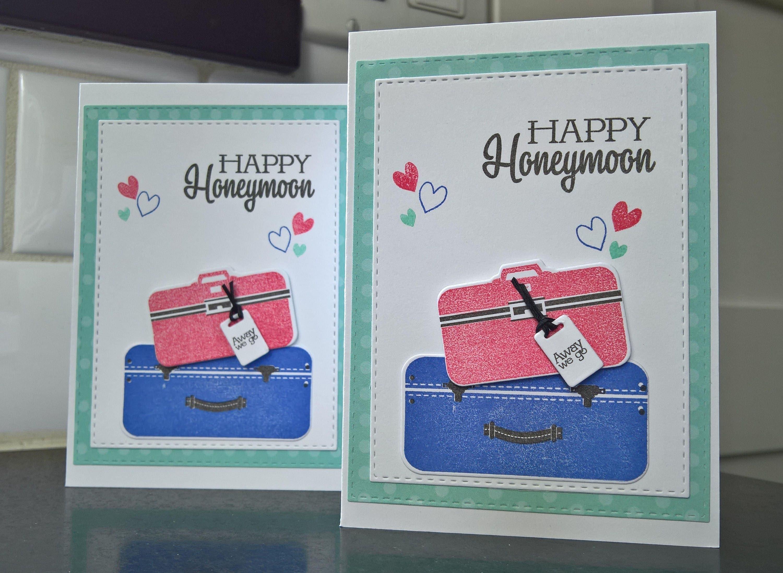 Wedding Card Honeymoon Gift Happy Honeymoon Card Bon Voyage