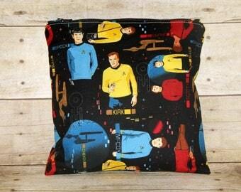 Star Trek TOS Small Wet Bag, Cloth Diaper Wet Bag, Reusable Waterproof Bag, Beach Bag, Pool Bag, Star Trek Bag, Swimsuit Bag, Makeup Bag