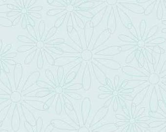 The Quilted Fish Fabric, Sweet Divinity by The Quilted Fish for Riley Blake Fabrics, C6105 Daisy in Blue