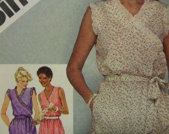 MOCK WRAP DRESS Pattern • Simplicity 9931 • Miss 14 • Pullover Dress • Sundress • Sewing Patterns • Seamstress Patterns • WhiletheCatNaps
