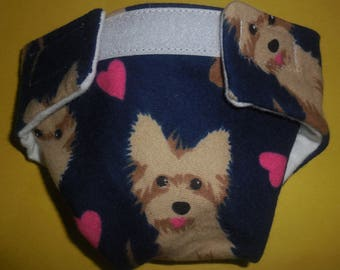 Ready to Ship SIZE #2 cloth Doll Diaper dog puppy adjusts washable fits bitty baby some baby alive all gone American Girl doll & more