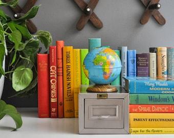 Vintage Petite Metal File Cabinet - Recipe Box - Flash Filing