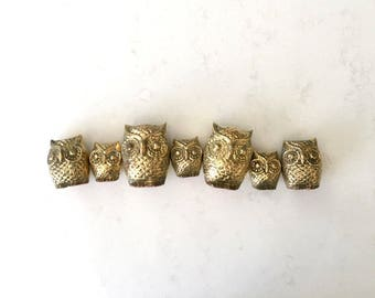 Vintage Brass Owl Collection