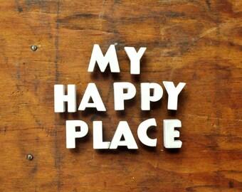 My Happy Place - Vintage Ceramic Push Pins